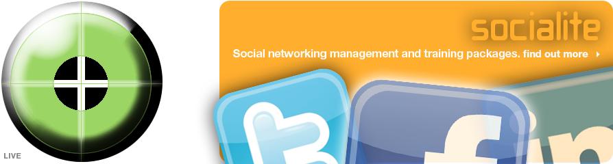 Socialite. Social media management and training.